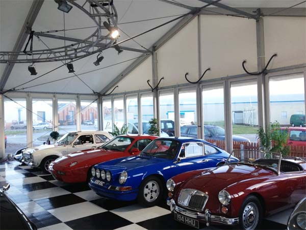 Classic Car showroom Marquee Cheshire